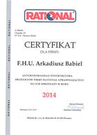 A-Babiel certyfikat serwis urządzeń gastronomicznych RATIONAL