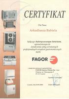 A-Babiel certyfikat serwis Fagor