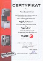 A-Babiel certyfikat serwis urządzeń gastronomicznych Fagor